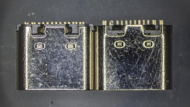 So sánh đầu nối USB-C loại 1 nghìn đồng và 5 nghìn đồng dưới kính hiển vi: đắt hơn gấp 5 nhưng chất lượng có hơn tương xứng? - Ảnh 2.