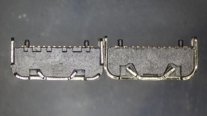 So sánh đầu nối USB-C loại 1 nghìn đồng và 5 nghìn đồng dưới kính hiển vi: đắt hơn gấp 5 nhưng chất lượng có hơn tương xứng? - Ảnh 3.