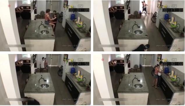 Dẫn gã đàn ông khác đến nhà tình tứ thì chồng đi làm về, vợ tung chiêu giúp nhân tình tẩu thoát, chẳng ngờ bị camera vạch mặt - Ảnh 1.
