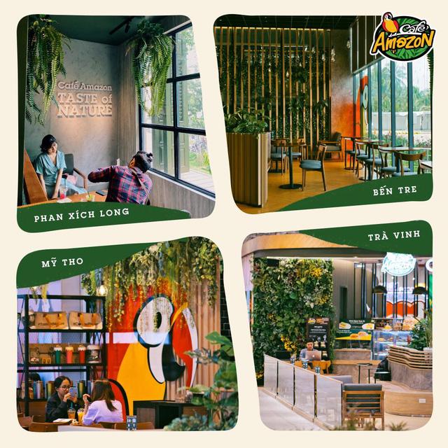 Chuỗi Café Amazon lớn nhất Thái Lan đổ bộ Việt Nam với 5 cửa hàng: Menu dành riêng cho khách Việt có cà phê đen, bạc xỉu đá, trà đào, trà vải... - Ảnh 2.
