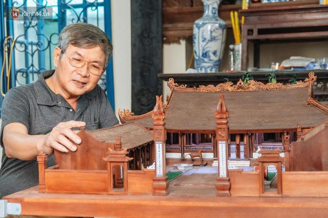 Hà Nội: Độc đáo mô hình đình làng bằng gỗ siêu nhỏ, trả giá 2 tỷ cũng không bán! - Ảnh 2.