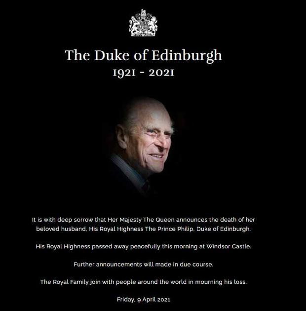 Những hình ảnh cuối cùng của chồng Nữ hoàng Anh - Hoàng thân Philip, trước khi qua đời ở tuổi 99 - Ảnh 1.