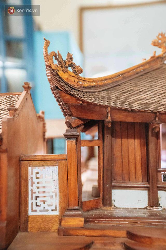 Hà Nội: Độc đáo mô hình đình làng bằng gỗ siêu nhỏ, trả giá 2 tỷ cũng không bán! - Ảnh 11.