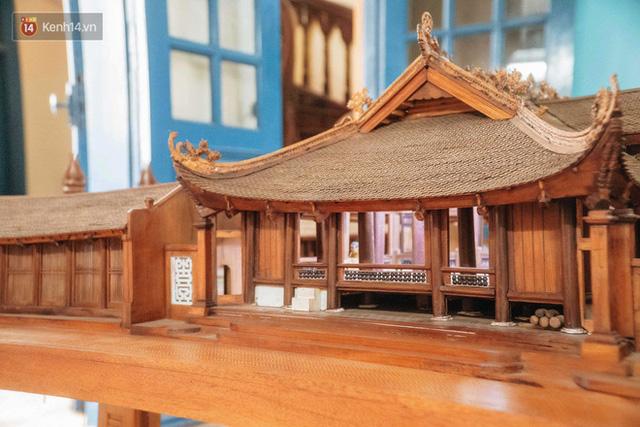 Hà Nội: Độc đáo mô hình đình làng bằng gỗ siêu nhỏ, trả giá 2 tỷ cũng không bán! - Ảnh 13.
