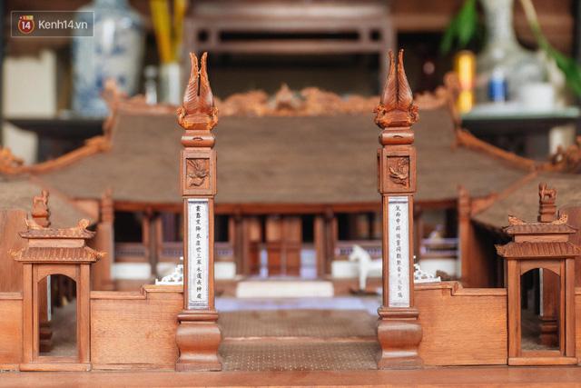 Hà Nội: Độc đáo mô hình đình làng bằng gỗ siêu nhỏ, trả giá 2 tỷ cũng không bán! - Ảnh 3.