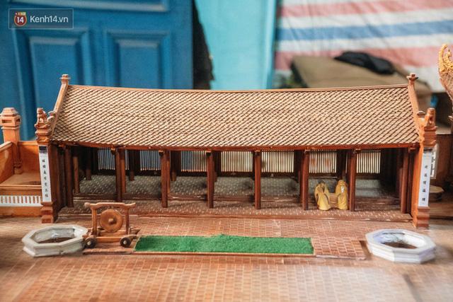 Hà Nội: Độc đáo mô hình đình làng bằng gỗ siêu nhỏ, trả giá 2 tỷ cũng không bán! - Ảnh 21.