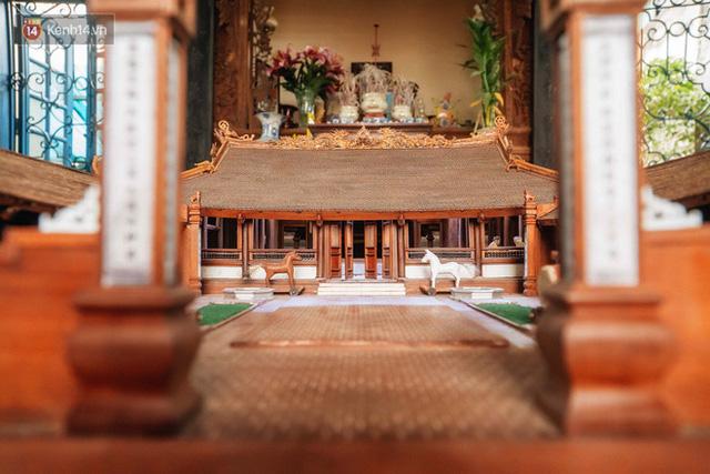 Hà Nội: Độc đáo mô hình đình làng bằng gỗ siêu nhỏ, trả giá 2 tỷ cũng không bán! - Ảnh 5.
