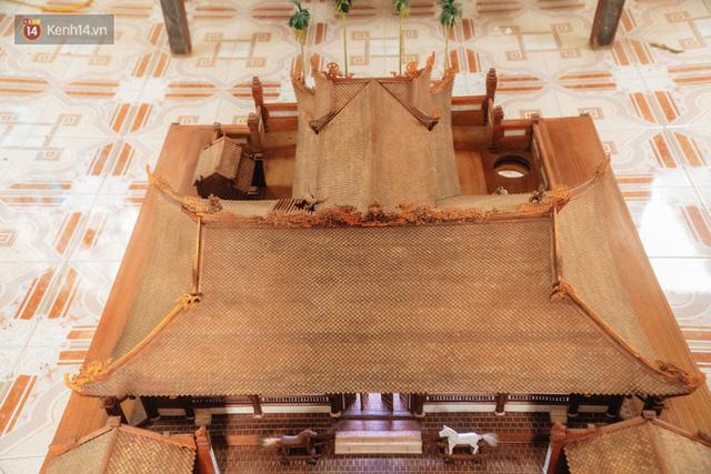 Hà Nội: Độc đáo mô hình đình làng bằng gỗ siêu nhỏ, trả giá 2 tỷ cũng không bán! - Ảnh 6.