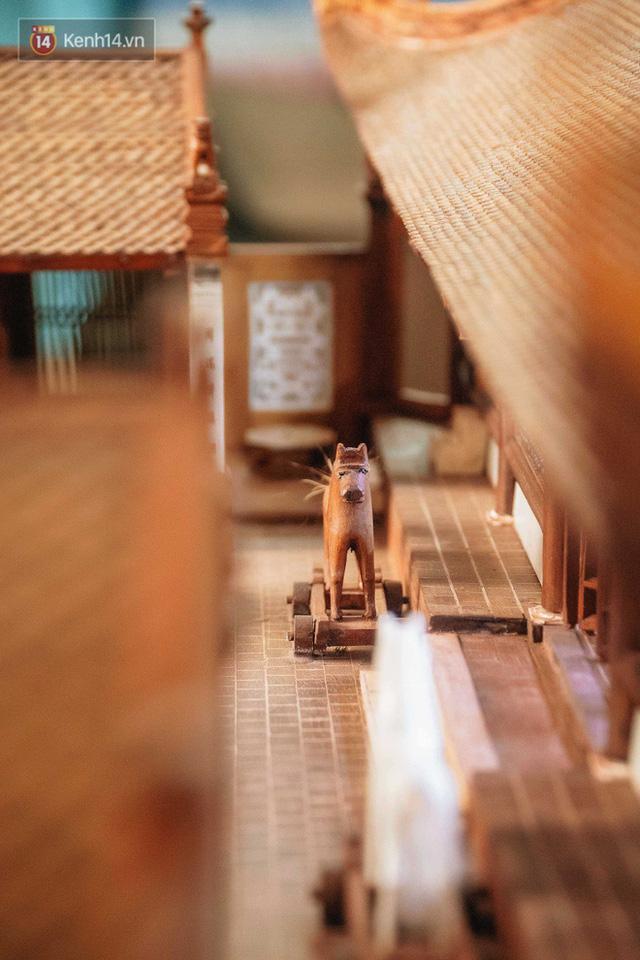 Hà Nội: Độc đáo mô hình đình làng bằng gỗ siêu nhỏ, trả giá 2 tỷ cũng không bán! - Ảnh 7.