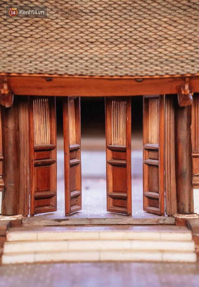 Hà Nội: Độc đáo mô hình đình làng bằng gỗ siêu nhỏ, trả giá 2 tỷ cũng không bán! - Ảnh 10.