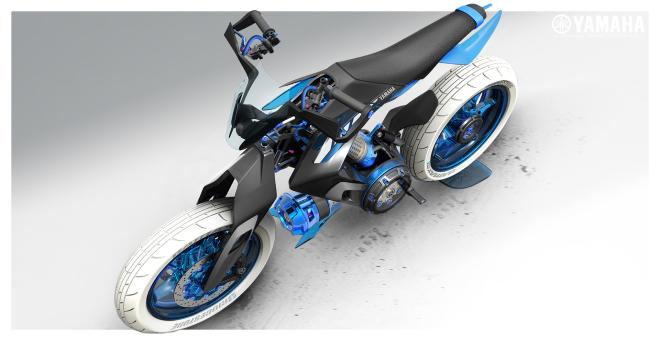 Sắp có xe Yamaha chạy bằng nước thay xăng, cơ chế hoạt động rất bí ẩn - Ảnh 2.