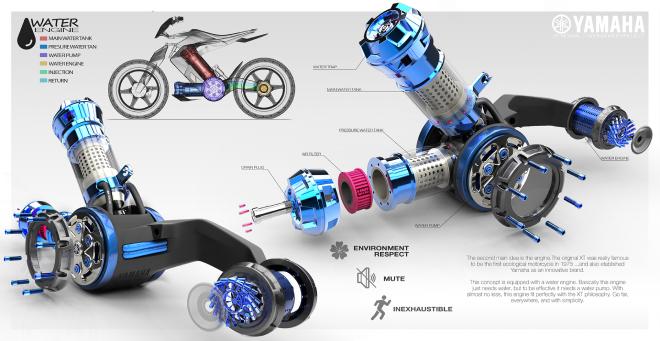Sắp có xe Yamaha chạy bằng nước thay xăng, cơ chế hoạt động rất bí ẩn - Ảnh 5.