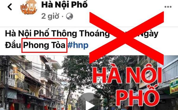 Xử phạt Youtuber Duy Nến vì đăng tin sai sự thật Hà Nội bị phong tỏa