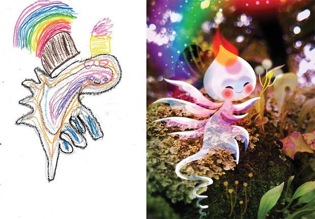 Loạt tranh vẽ nhân vật game cực ngầu đến từ tác phẩm nguệch ngoạc của trẻ nhỏ - Ảnh 2.