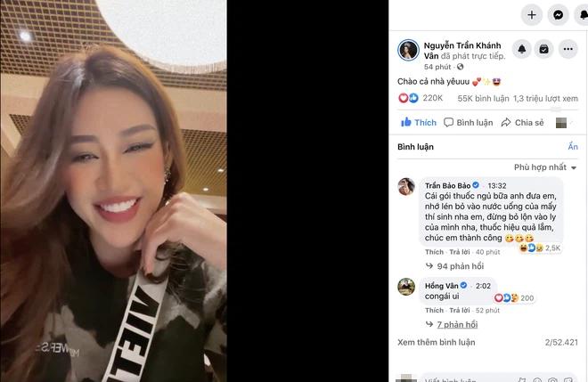 Khánh Vân livestream 15 phút mà đạt kỷ lục triệu view, NSND Hồng Vân và dàn sao Vbiz rôm rả vào động viên gây nổ MXH - Ảnh 1.