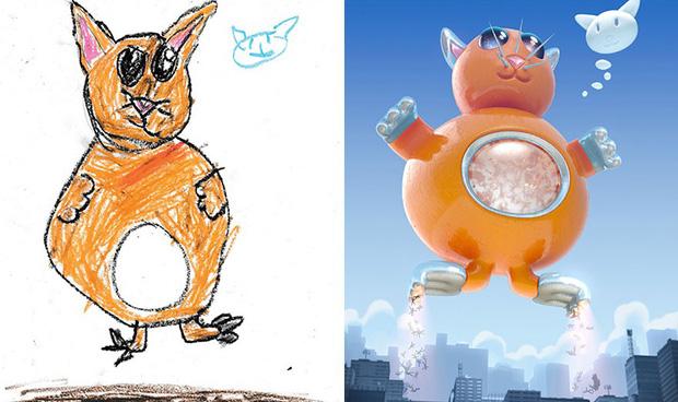 Loạt tranh vẽ nhân vật game cực ngầu đến từ tác phẩm nguệch ngoạc của trẻ nhỏ - Ảnh 11.