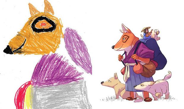 Loạt tranh vẽ nhân vật game cực ngầu đến từ tác phẩm nguệch ngoạc của trẻ nhỏ - Ảnh 5.