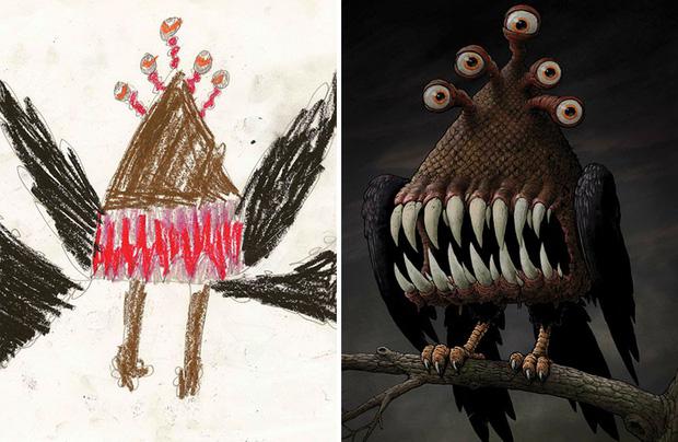 Loạt tranh vẽ nhân vật game cực ngầu đến từ tác phẩm nguệch ngoạc của trẻ nhỏ - Ảnh 6.