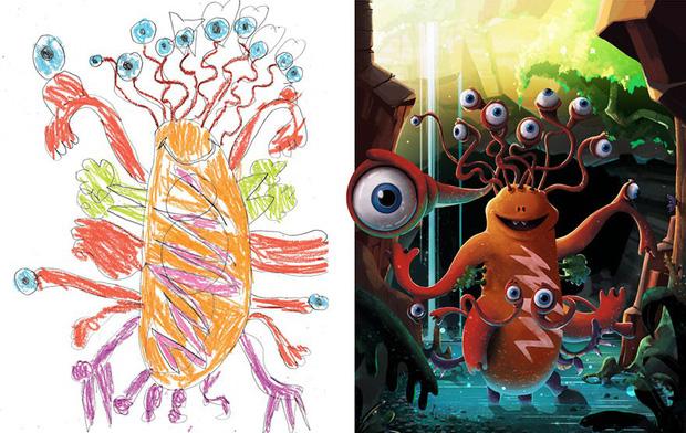 Loạt tranh vẽ nhân vật game cực ngầu đến từ tác phẩm nguệch ngoạc của trẻ nhỏ - Ảnh 8.