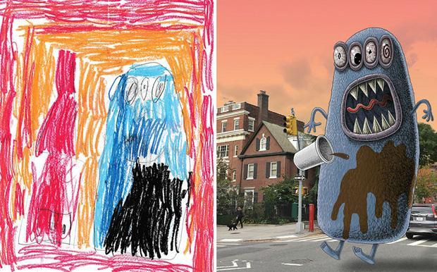Loạt tranh vẽ nhân vật game cực ngầu đến từ tác phẩm nguệch ngoạc của trẻ nhỏ - Ảnh 10.