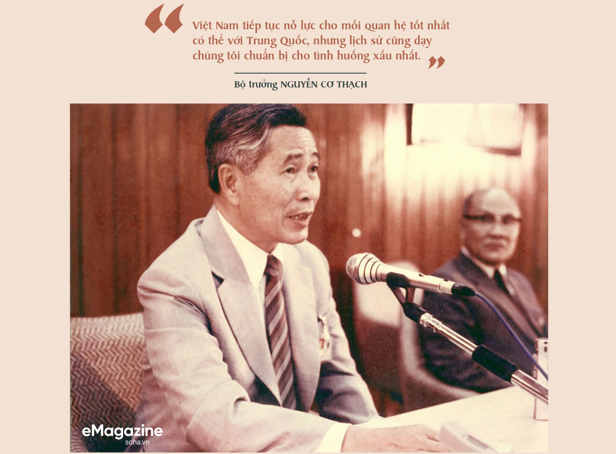 Bộ Âu phục đi mượn của ông Nguyễn Cơ Thạch và cuộc phỏng vấn sau màn thoát hiểm trước đạn pháo Trung Quốc - Ảnh 7.