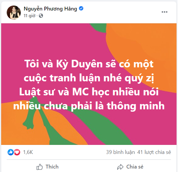 Bà Phương Hằng tuyên bố: Tôi và Kỳ Duyên sẽ có một cuộc tranh luận - Ảnh 1.