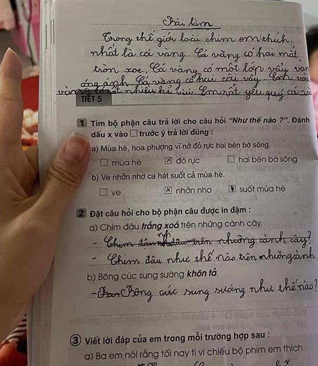 Học trò lớp 1 trổ tài viết văn miêu tả siêu lầy, người lớn đọc vào chỉ biết ôm bụng cười vì quá sức sáng tạo! - Ảnh 5.
