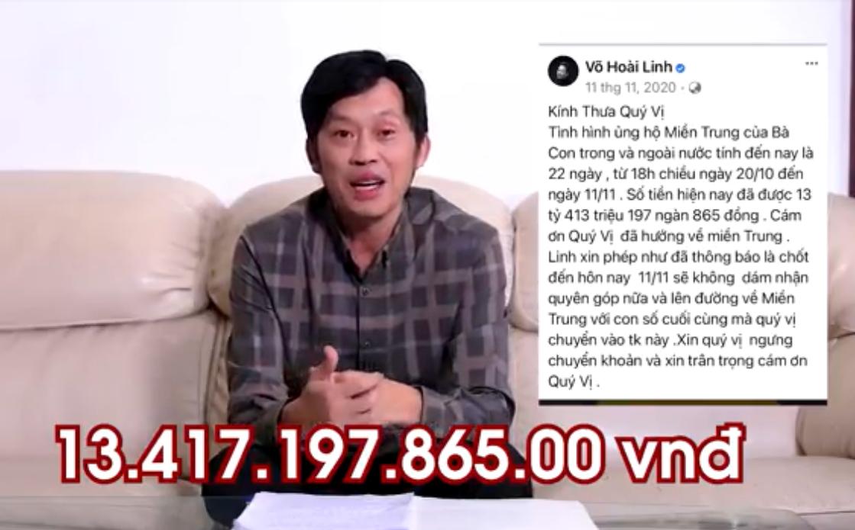 Clip Hoài Linh chính thức lên tiếng về số tiền gần 14 tỷ đồng từ thiện lũ lụt miền Trung