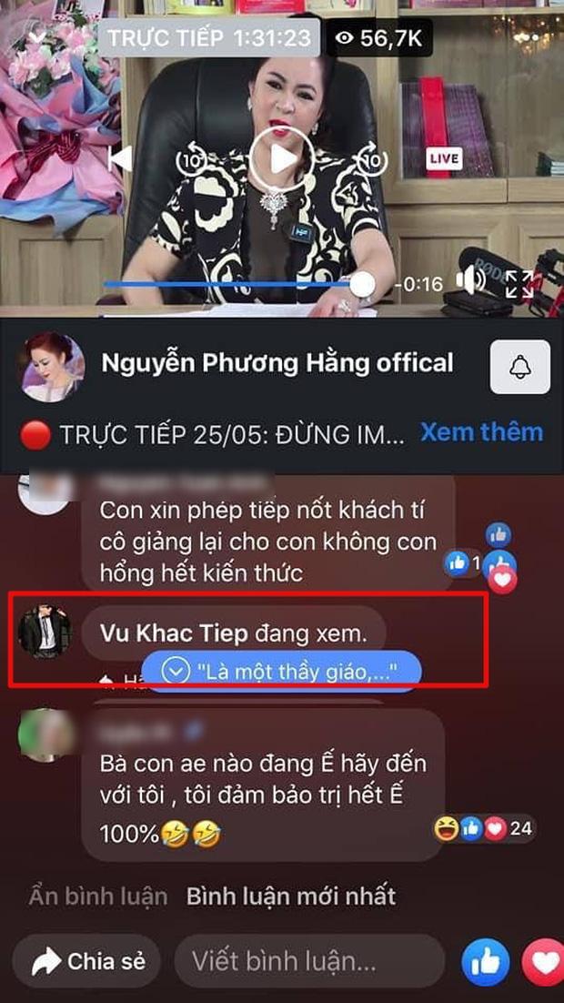 Vũ Khắc Tiệp, Quốc Trường lẫn dàn sao đổ xô cùng hóng xem livestream bà Phương Hằng đại náo showbiz - Ảnh 2.