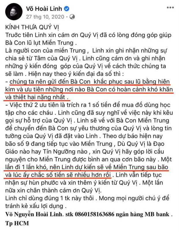 Dân mạng soi lại 1 điểm ở bài đăng kêu gọi nhằm minh oan cho Hoài Linh, hoá ra nam NS nói rõ mục đích từ thiện từ đầu? - ảnh 1