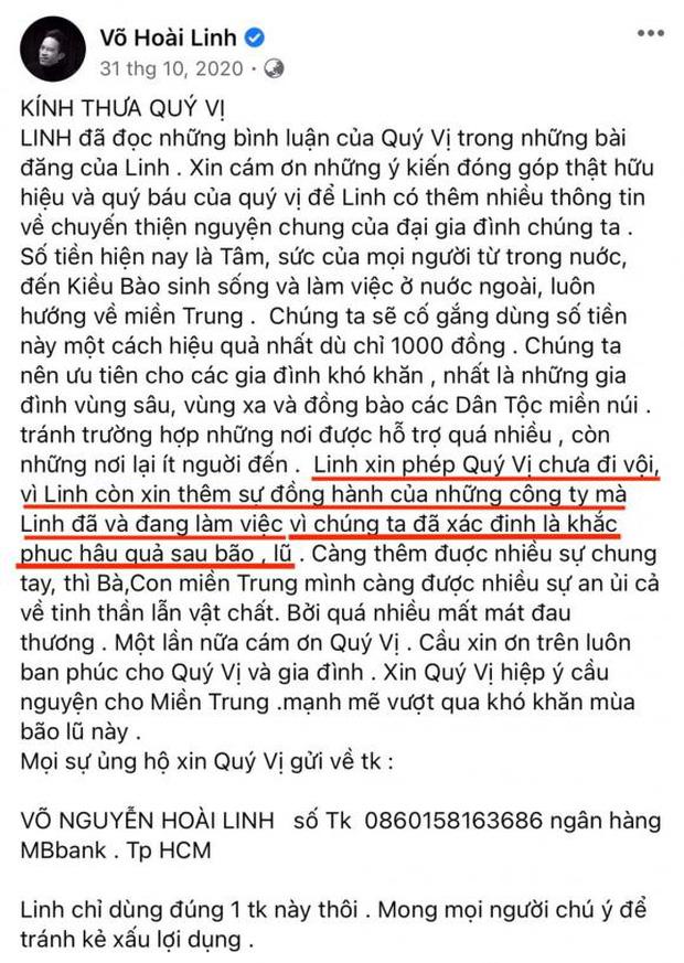Dân mạng soi lại 1 điểm ở bài đăng kêu gọi nhằm minh oan cho Hoài Linh, hoá ra nam NS nói rõ mục đích từ thiện từ đầu? - ảnh 2