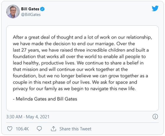Từng nổi tiếng yêu vợ, không ngại rửa bát làm việc nhà, Bill Gates khiến nhiều người bất ngờ khi tuyên bố ly hôn sau 27 năm chung sống - Ảnh 4.