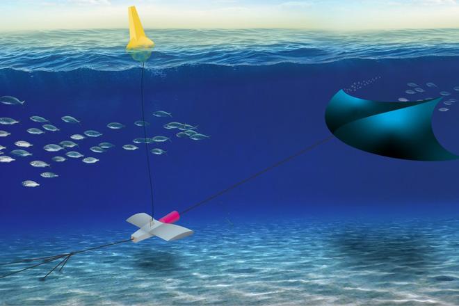 Chỉ cần đặt một cánh diều dưới nước, chúng ta có thể tạo ra điện từ thủy triều - Ảnh 1.