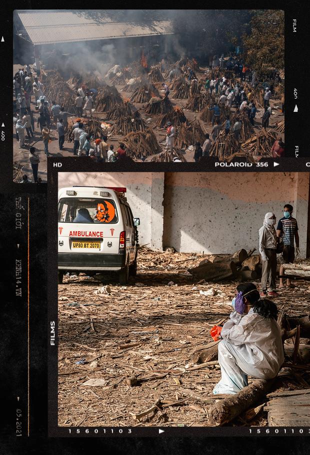 Một ngày tại lò hỏa táng giữa ''địa ngục Covid'' Ấn Độ: Khi cái chết là sự thật duy nhất trong các lò hỏa thiêu đang đỏ lửa ngày đêm - ảnh 1