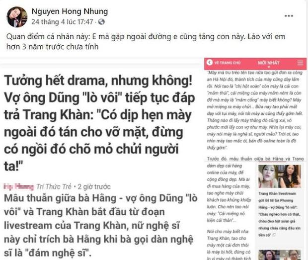 Vợ Xuân Bắc liên tục đăng đàn cà khịa Trang Trần, cựu siêu mẫu đáp trả cực gắt còn tuyên bố sẵn sàng tay đôi - Ảnh 1.