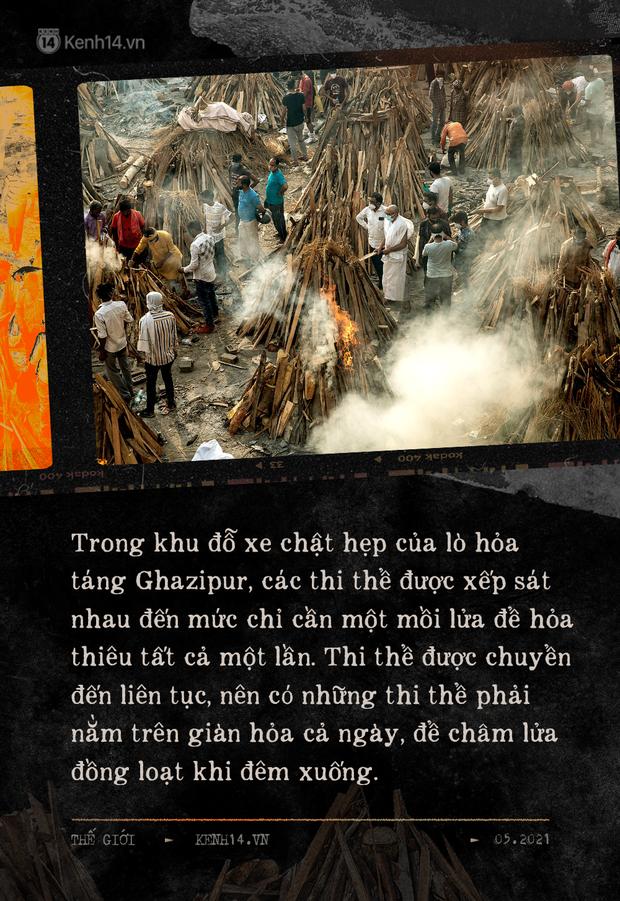 Một ngày tại lò hỏa táng giữa ''địa ngục Covid'' Ấn Độ: Khi cái chết là sự thật duy nhất trong các lò hỏa thiêu đang đỏ lửa ngày đêm - ảnh 5