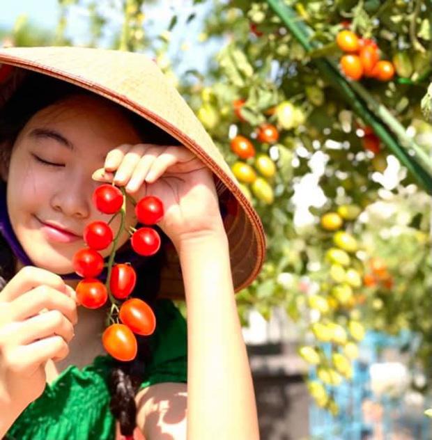 Con gái Quyền Linh đi làm vườn mà bùng nổ visual với vẻ ngoài xinh xỉu, để mặt mộc cũng không thể dìm được - Ảnh 2.