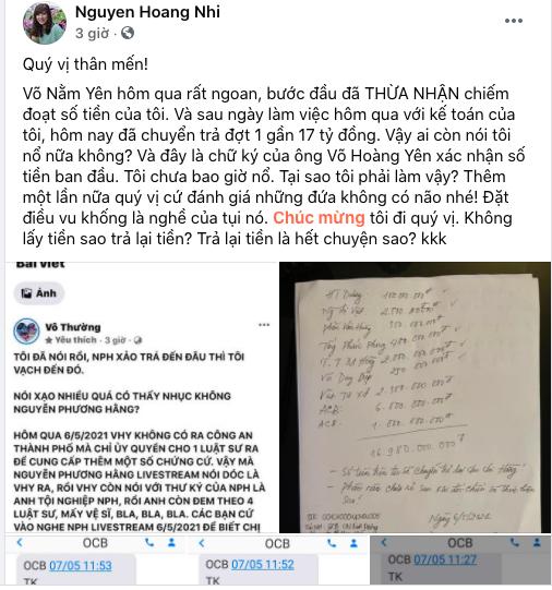 Lương y Võ Hoàng Yên đã chuyển trả vợ chồng đại gia Dũng lò vôi gần 17 tỷ đồng? - Ảnh 3.