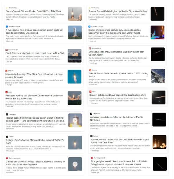 Người TQ cay cú: Tên lửa của Elon Musk rơi vụt sáng bầu trời, còn Trường Chinh 5B đe dọa địa cầu - Ảnh 2.