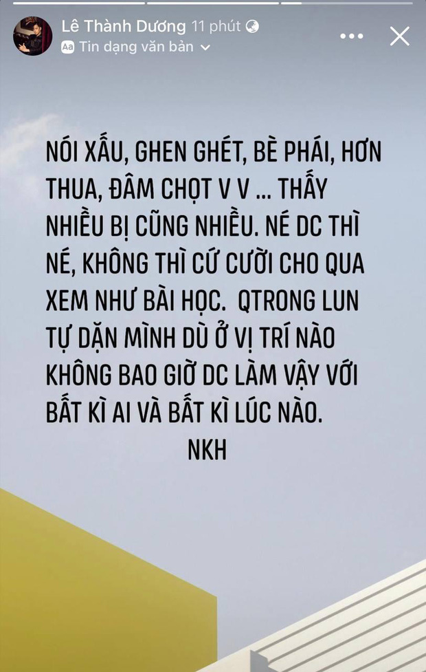 Ngô Kiến Huy bỗng đăng status 'đá xéo' ai đó ghen ghét, bè phái giữa lúc dàn sao Running Man Việt mùa 2 gây tranh cãi? - ảnh 1