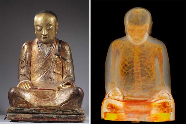 Chụp cắt lớp tượng Phật 1.000 năm tuổi, các nhà khoa học sửng sốt thấy bộ xương người rõ mồn một bên trong, chuyện kỳ quái gì đã xảy ra? - Ảnh 2.