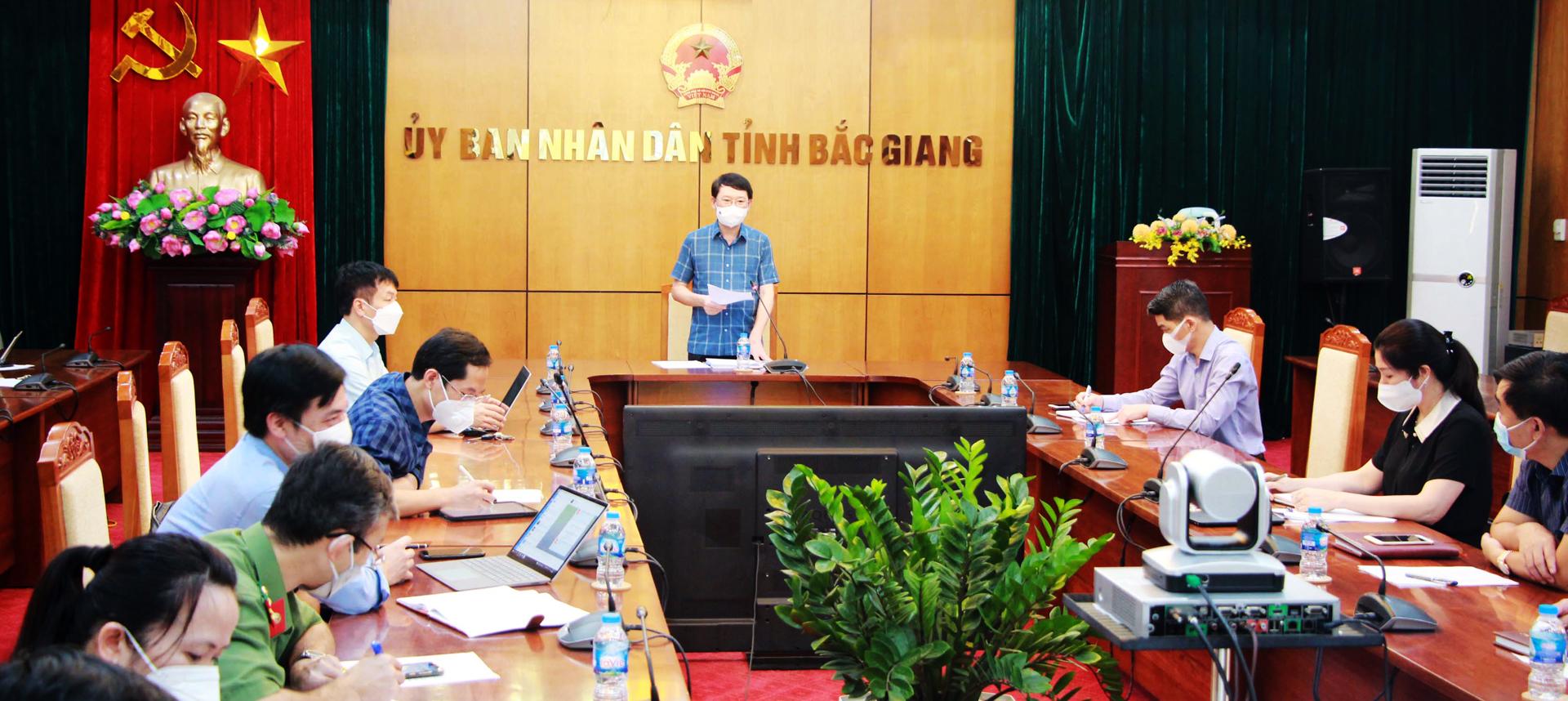 """Chủ tịch UBND tỉnh Lê Ánh Dương: """"Bắc Giang sẽ đóng góp cho cả nước về bài học ứng phó với dịch"""" - Ảnh 1."""