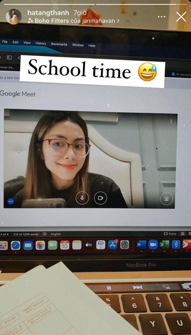 Hà Tăng thành sinh viên học online, nhan sắc con dâu nhà tỷ phú qua camera máy tính như thế nào mà dân tình tròn mắt? - Ảnh 1.