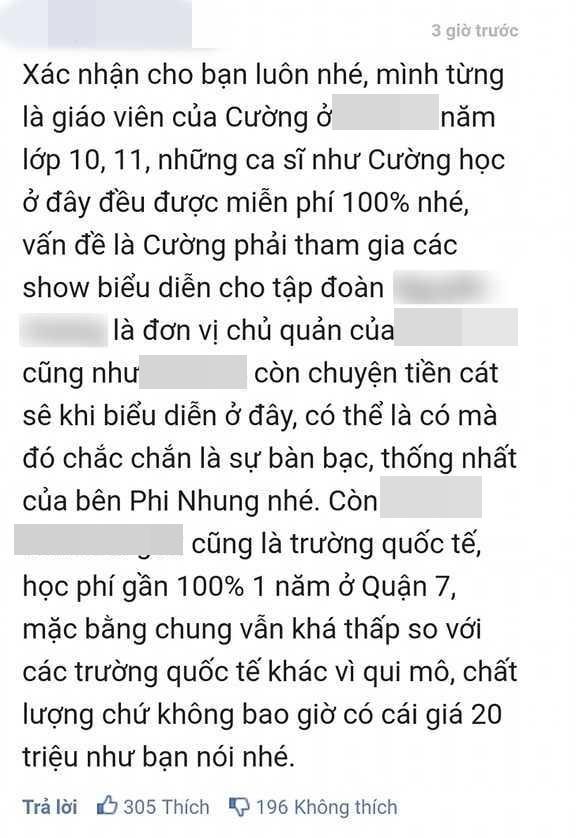Giáo viên cũ nói Hồ Văn Cường được miễn 100% học phí, quản lý Phi Nhung lại nói tốn nhiều tiền, sự thật ra sao? - Ảnh 1.