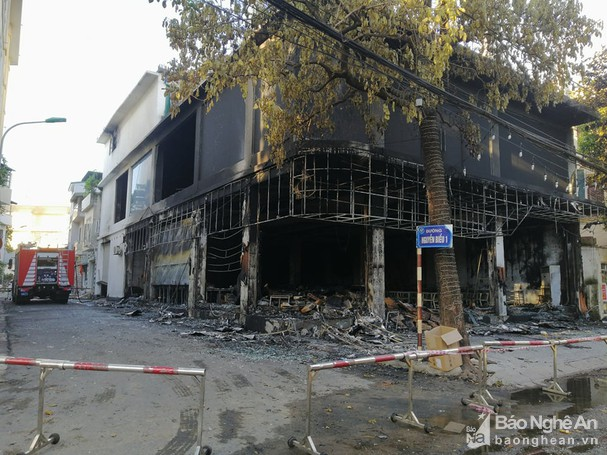 Nghệ An: Hiện trường vụ cháy kinh hoàng khiến 6 người tử vong - Ảnh 6.