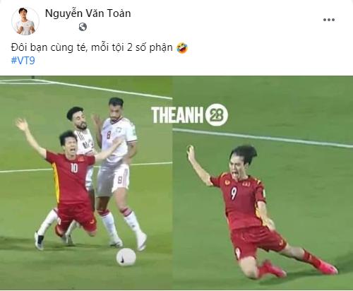 Văn Toàn cà khịa Công Phượng, fan Việt Namcười chảy nước mắt vì loạt ảnh chế hùa theo - Ảnh 1.
