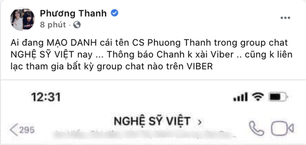 """5 lần 7 lượt phủ nhận cuối cùng Phương Thanh cũng thừa nhận có tồn tại nhóm chat """"Nghệ sĩ Việt""""? - ảnh 3"""
