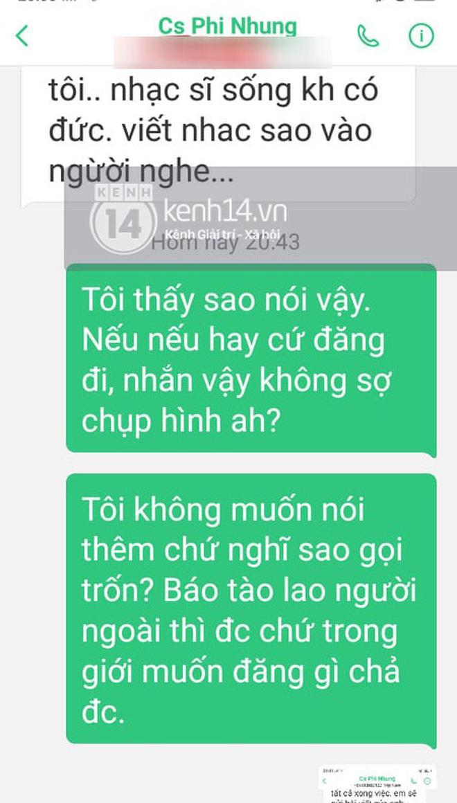 Độc quyền: Nhạc sĩ Chim Trắng Mồ Côi tung tin nhắn chứng minh bị Phi Nhung uy hiếp, kể ngọn nguồn và lời xin lỗi bất ngờ sau đó - Ảnh 2.