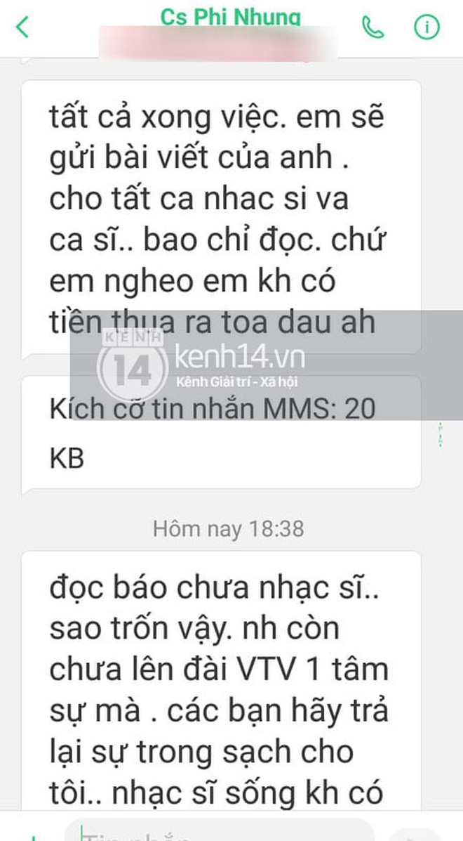 Phía Phi Nhung chính thức lên tiếng sau khi bị nhạc sĩ Chim Trắng Mồ Côi đăng đàn tố uy hiếp và đe doạ - Ảnh 2.