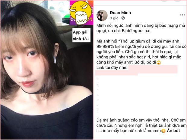 Lợi dụng chuyện đang hot, cô gái có 12 mối tình bất chấp đăng link quảng cáo app sex trên trang cá nhân - Ảnh 1.